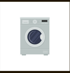 flat washing machine isolated on white background vector image