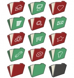 folder icons vector image