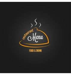 food and drink menu design background vector image
