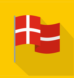 holland flag icon flat style vector image vector image