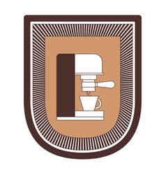 logo badge decorative of coffee espresso machine vector image