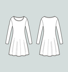 Long-sleeved dress vector