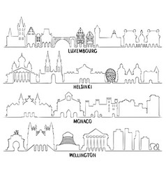 Luxembourg helsinki monaco and wellington vector