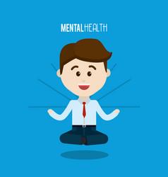 mental health elegant happy person vector image vector image