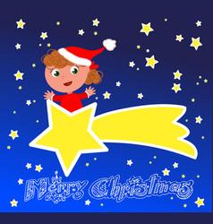 Merry christmas comet vector