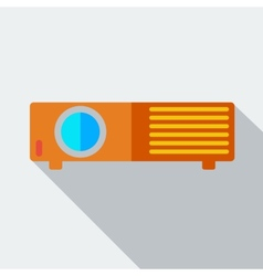 Modern flat design concept icon projector vector image