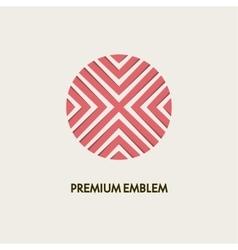 Modern monogram emblem logo Ring of the vector image vector image