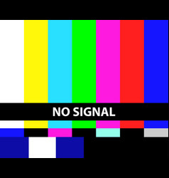 No tv signal vector
