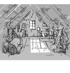Old attic vector
