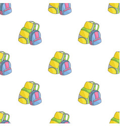Pair of travel backpacks icon in cartoon style vector