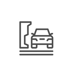 parking line icon vector image vector image