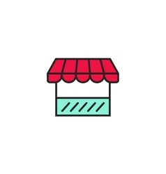 Shop icon storefront symbol outline style vector image vector image