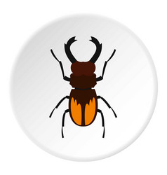 stag beetle icon circle vector image vector image