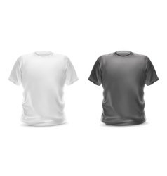White and gray t-shirts vector image