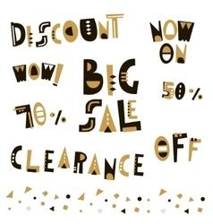 Sale design elements in geometric style big sale vector