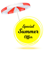 special summer offer ad summer banner with sun vector image