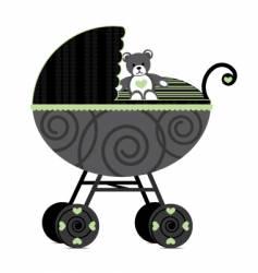 babies pram vector image