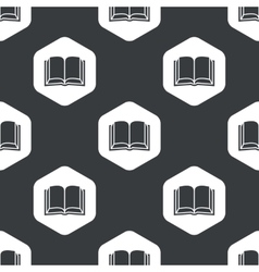 Black hexagon book pattern vector