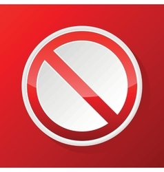 Red no sign icon vector