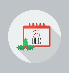 Christmas day calendar flat icon vector