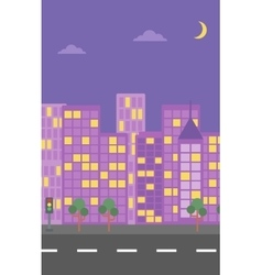 Background of night city vector