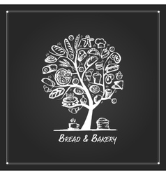 Bakery tree concept for your design vector