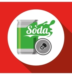 Soda design drink concept white background vector