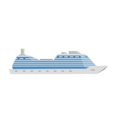 White cruise boat vector