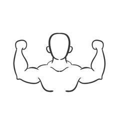 Avatar man icon healthy lifestyle design vector