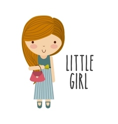 Girl icon kid and cute people design vector