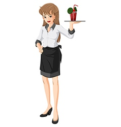 A waitress vector image vector image