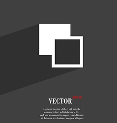 Active color toolbar icon symbol Flat modern web vector image vector image