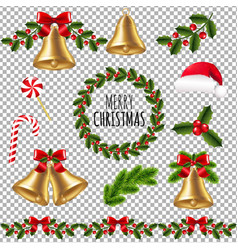 big xmas set vector image vector image