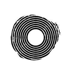 Black grunge concentric circle vector