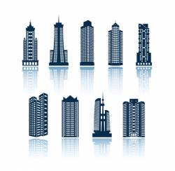 Buildings silhouettes vector
