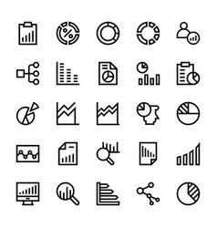 business charts and diagrams line icons 2 vector image vector image