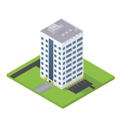 Business isometric building vector