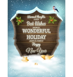 Christmas vintage greeting card EPS 10 vector image