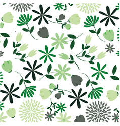 cute flowers pattern decorative icon vector image vector image