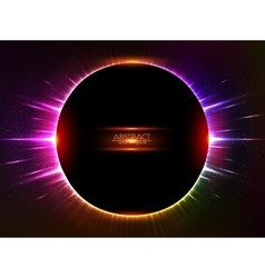 Dark red shining cosmic ring vector