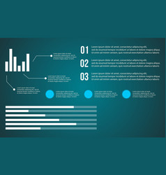Data and graph background business infographic vector