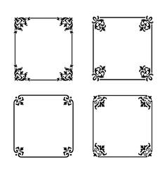 decorative square ornate design elements vector image