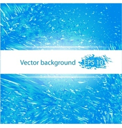 Deep blue water abstract background vector image