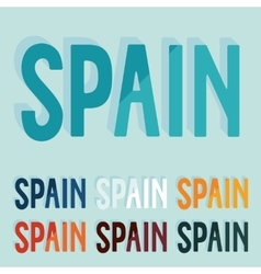 Flat design Spain vector image