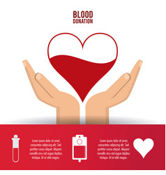 Heart arm blood donation icon graphic vector
