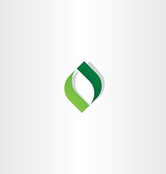 letter o green leaf logo icon element vector image