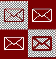 Letter sign bordo and white vector
