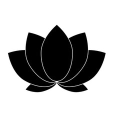 lotus the black color icon vector image vector image