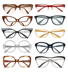 modern eyeglasses set vector image