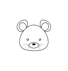 mouse drawing face vector image vector image